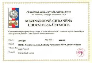 Artegal certifikát
